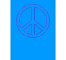 Peace Sign Symbol Abstract 4 Photographic Print