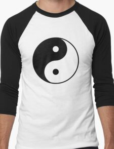 Asian Yin Yang Symbol Men's Baseball ¾ T-Shirt