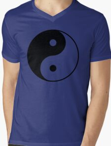 Asian Yin Yang Symbol Mens V-Neck T-Shirt
