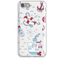 Nautical Sea Time iPhone Case/Skin