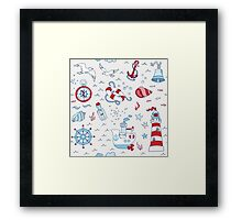 Nautical Sea Time Framed Print