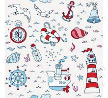 Nautical Sea Time Photographic Print