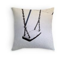Cold Swing Throw Pillow