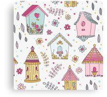 Cute Bird House Canvas Print
