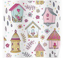 Cute Bird House Poster