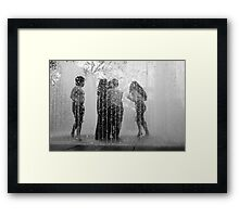 Fountains of Fun Framed Print