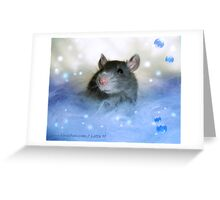 On a Little Fluffy Cloud Greeting Card