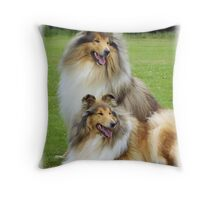 Rough Collies Throw Pillow