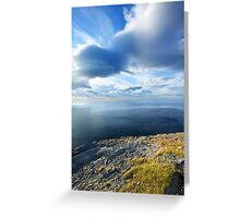 View from the Northernmost Point of Europe! Greeting Card