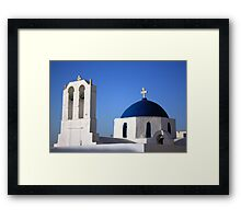 Chapels in Blue & White Framed Print