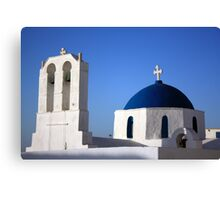 Chapels in Blue & White Canvas Print