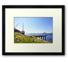 Permanent mooring at Hammerfest, Norway Framed Print