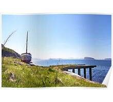 Permanent mooring at Hammerfest, Norway Poster