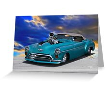 1948 Oldsmobile 'Pro Street' Convertible I Greeting Card