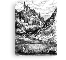 Mountains and rivers Canvas Print