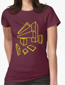 Rectangle Womens Fitted T-Shirt