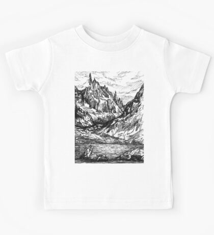 Mountains and rivers Kids Tee