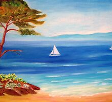 Mediterranean seascape  by daffodil