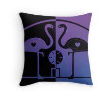 Purple Flamingos - George Modica-Cliff Throw Pillow