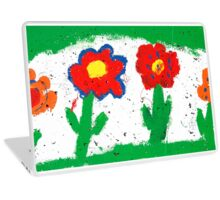 Happy colorful flowers Laptop Skin