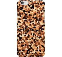 Brown Cream Abstract Mosaic Pattern iPhone Case/Skin