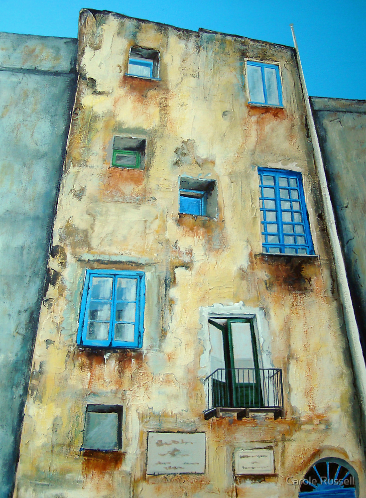 Old Building medieval quarter - Capri by Carole Russell
