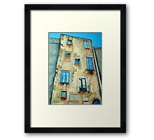 Old Building medieval quarter - Capri Framed Print