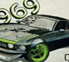 1969 Ford Mustang RTR-X Sticker