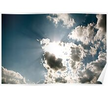 Sun Rays through the Clouds Poster