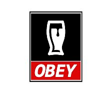 Obey Beer Photographic Print