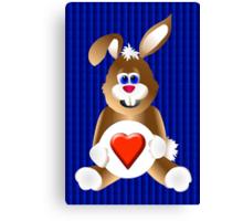 Honey Bunny Love Canvas Print