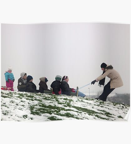 Sledging - Candid Poster