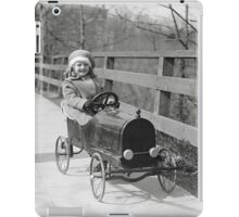 Little Girl Driving Pedal Car, 1922 iPad Case/Skin
