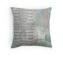 At the Gates of Heaven    Acrylic Medium Throw Pillow