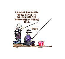 fishing t-shirt Photographic Print