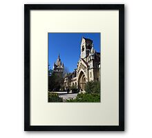 Jak Church and Vajdahunyad Castle Framed Print