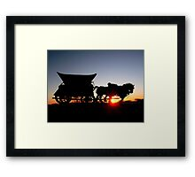 Riding into the Sunset... Framed Print