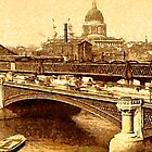 St. Paul's Cathedral & Blackfriars Bridge, London c1880 by Dennis Melling
