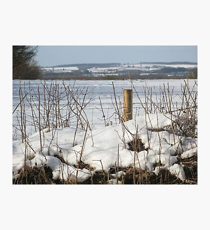 North Dorset snow scene Photographic Print
