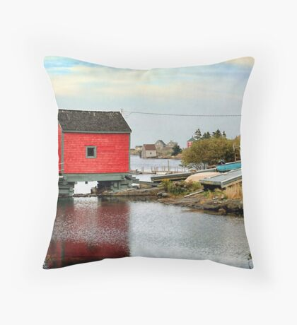 Blue Rocks, Nova Scotia Throw Pillow