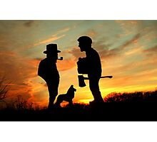 Old friends Converge at Dusk... Photographic Print