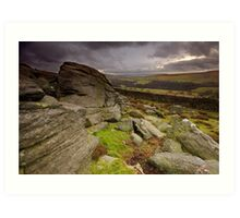 Lower Wharfedale from Sartree Crag Art Print