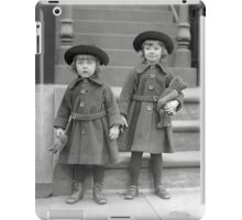 Little Girls with Teddy Bears, 1921 iPad Case/Skin