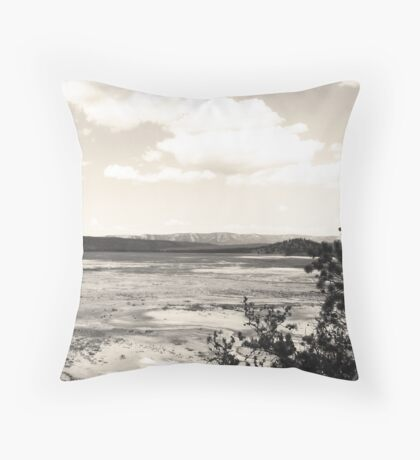 Sulfur Pits Throw Pillow