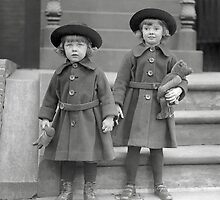 Little Girls with Teddy Bears, 1921 by historyphoto