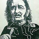 Salvador Dali - Sketch by Joseph Barbara