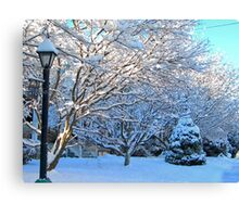 Winter Street Canvas Print