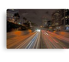 7th street and Harbor freeway Canvas Print