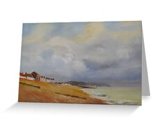 Coming storm on the bay of Hythe Greeting Card