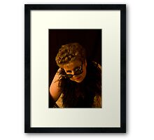 Diamente And Feathers Framed Print